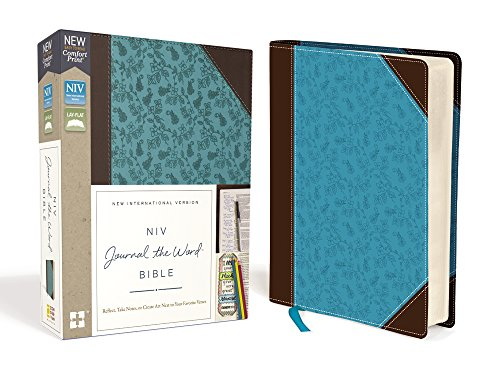 NIV Journal the Word Bible (Chocolate/Turquoise Leathersoft)