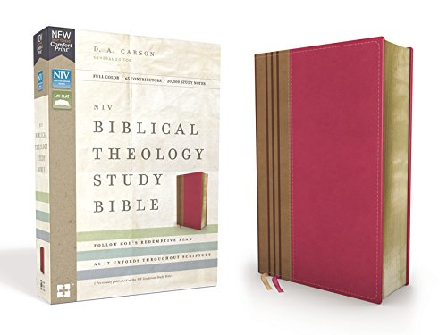 NIV Biblical Theology Study Bible (Thumb Indexed, Raspberry/Tan Leathersoft)