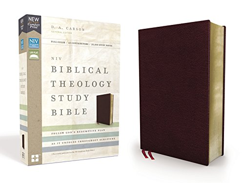 NIV Biblical Theology Study Bible (Thumb Indexed, Burgundy Bonded Leather)