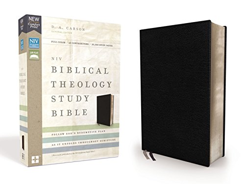 NIV Biblical Theology Study Bible (Black Bonded Leather)