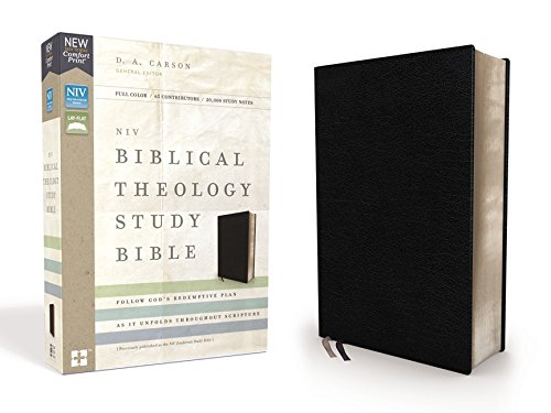 NIV Biblical Theology Study Bible (Thumb Indexed, Black Bonded Leather)
