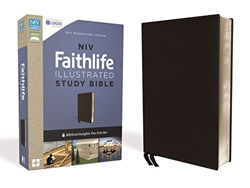 NIV Faithlife Illustrated Study Bible (Thumb Index, Black Premium Bonded Leather)