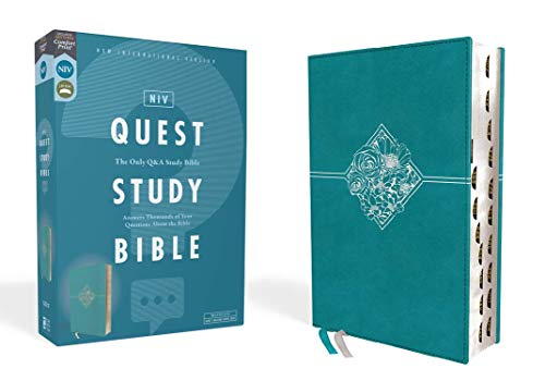 NIV Quest Study Bible (Thumb Indexed, Teal Leathersoft)