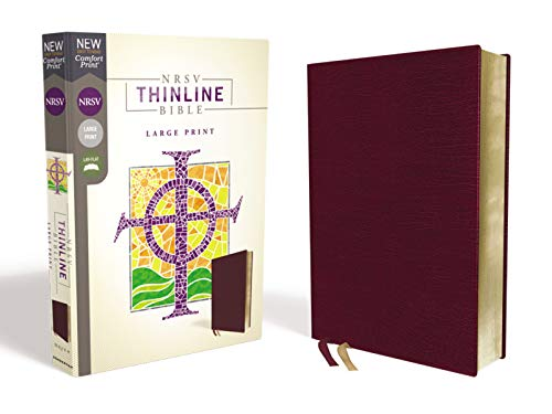 NRSV Thinline Bible (Large Print, Burgundy Bonded Leather)