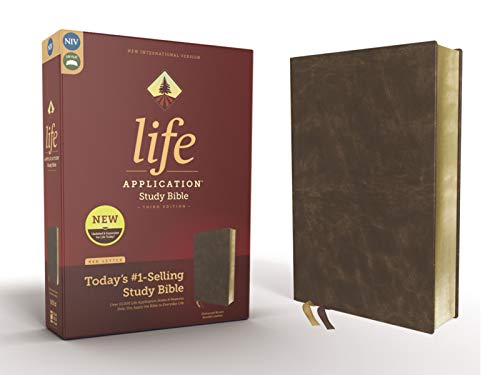NIV Life Application Study Bible (3rd Edition, Distressed Brown Bonded Leather)