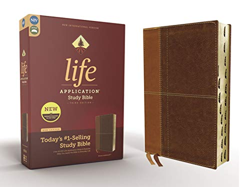NIV Life Application Study Bible (3rd Edition, Thumb Indexed, Brown Leathersoft)