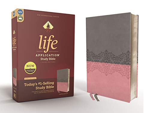 NIV Life Application Study Bible (Gray/Pink, Leathersoft, 3rd Edition)