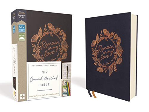 NIV, Journal the Word Comfort Print Bible (Navy Cloth Over Board)