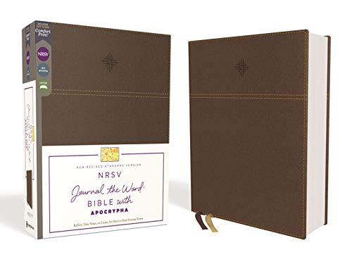 NRSV Comfort Print, Journal the Word Bible with Apocrypha (Brown Leathersoft)