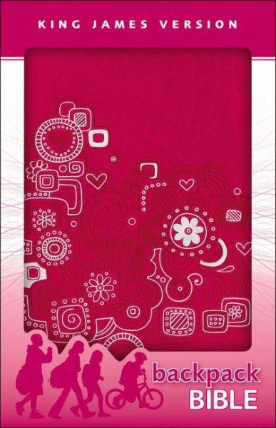 King James Version Backpack Bible (KJV, Pink Graffiti Italian Duo-Tone)