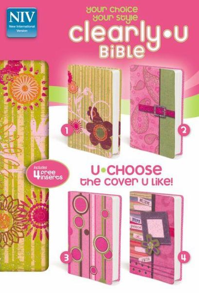 Clearly-U Bible (New International Version, Text, Pink Sparkle)