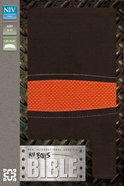 NIV Boys Bible (Brown/Orange Italian Duo-Tone)