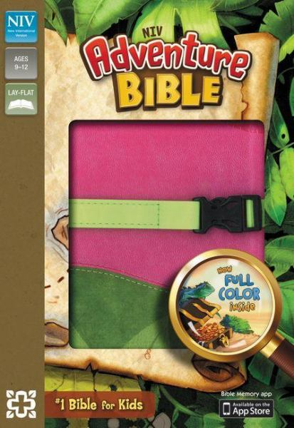 NIV Adventure Bible (Pink/Green Italian Duo-Tone)