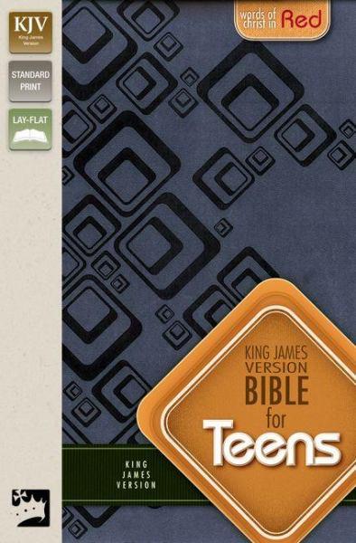 KJV Bible for Teens (Slate Blue Italian Duo-Tone)