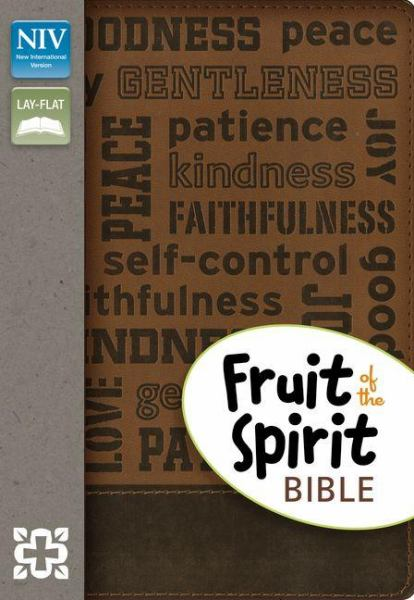 Fruit of the Spirit Bible (NIV, Brown, White Gilded-Pages, Italian Duo-Tone)