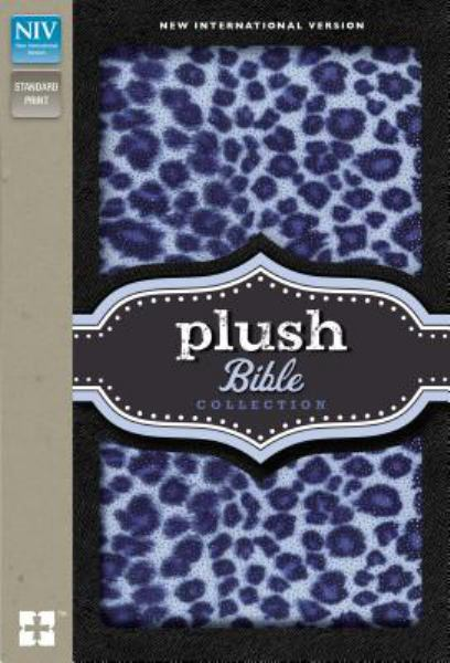 Plush Bible Collection (NIV, Blue Sparkle Leopard, Padded Hardcover)
