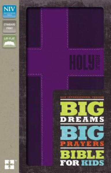 NIV Big Dreams Big Prayers Bible for Kids (Purple Italian Duo-Tone)