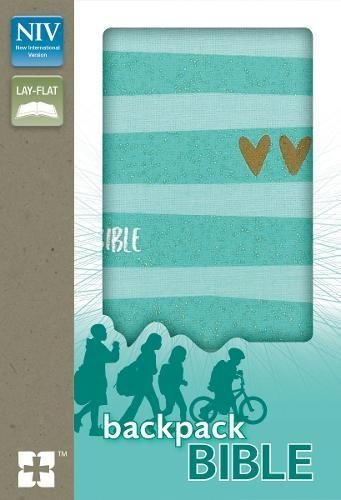 NIV Compact Backpack Bible (Turquoise/Gold Flexcover)
