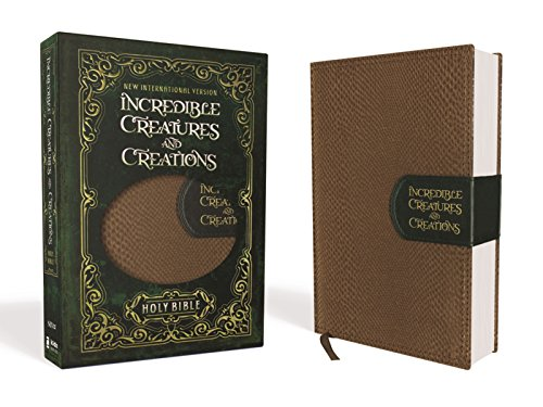 NIV Incredible Creatures and Creations Holy Bible (Tan/Green Leathersoft)