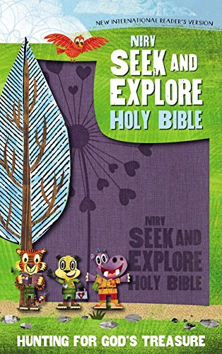 NIrV Seek and Explore Holy Bible (Periwinkle Leathersoft)