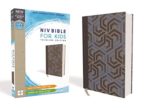NIV Thinline Bible For Kids (Blue Cloth over Board)