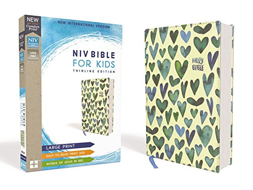 NIV Bible for Kids: Thinline Edition (Turquoise Hearts Cloth Over Board)