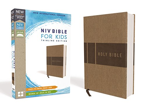 NIV Thinline Bible for KIds (Tan Leathersoft)