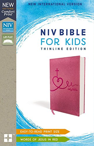 NIV Thinline Bible For Kids (Pink Leathersoft)