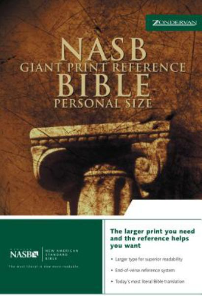 Personal Size Giant Print Reference Bible (NASB. Black Bonded Leather, Gilded-Gold Page Edges)