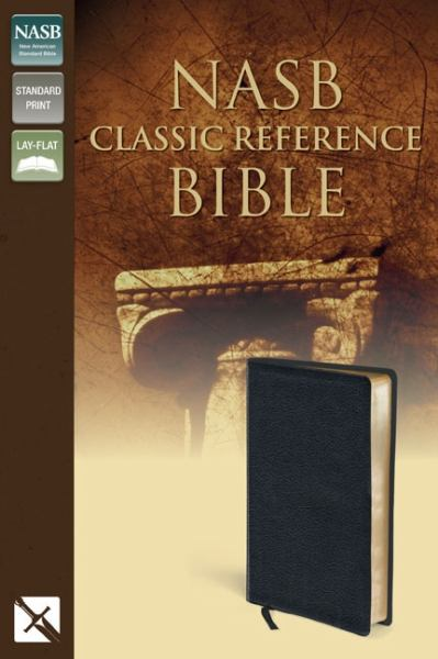 NASB Classic Reference Bible (Black Top Grain Leather, Gilded-Gold Pages)