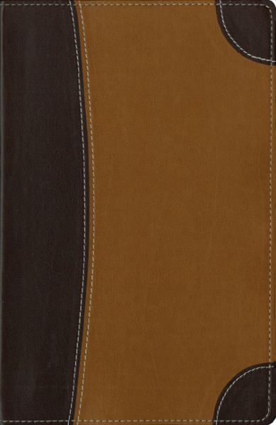 Personal Size Archaeological Study Bible (NIV, Mahogany/Caramel Italian Duo-Tone, Gilded-Gold Page Edges)