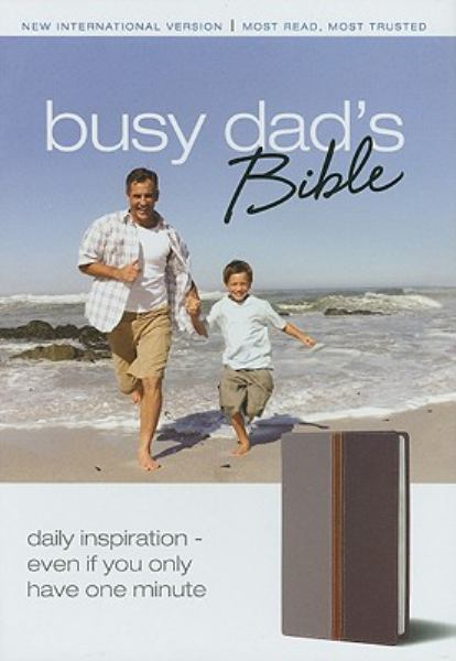 Busy Dad's Bible (NIV, Text, Gray/Charcoal Italian Duo-Tone)
