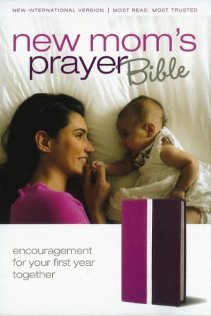 New Mom's Prayer Bible (NIV, Dark Orchid/Deep Plum Italian Duo-Tone, White Pages)