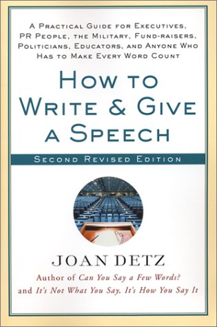 How to Write & Give a Speech (Second Revised Edition)