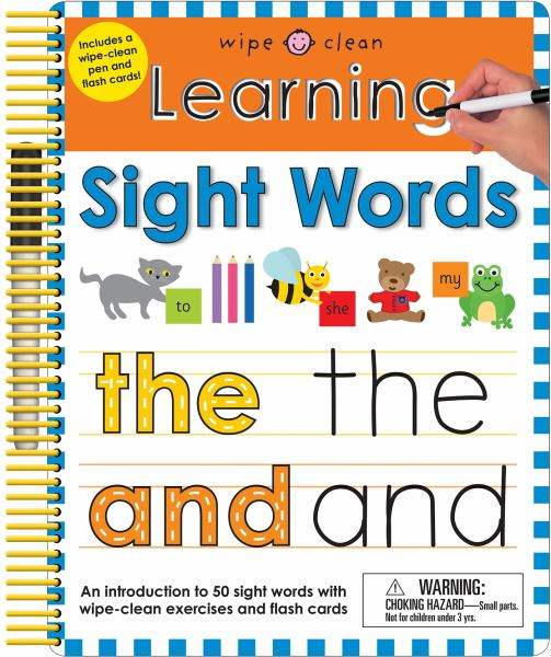 Learning Sight Words (Wipe Clean)