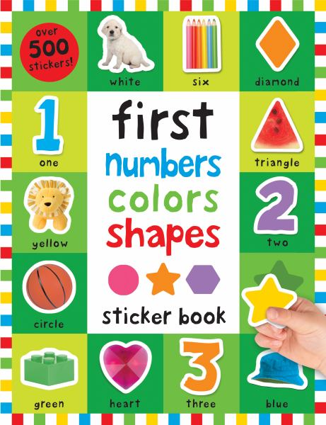 First Numbers, Colors Shapes Sticker Book (First 100)