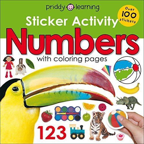 Numbers with Coloring Pages (Sticker Activity)