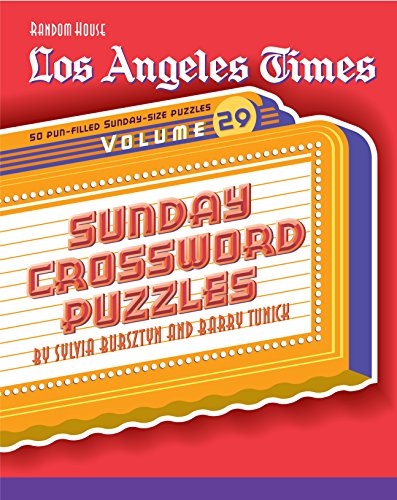 Los Angeles Times Sunday Crossword Puzzles (Volume 29)