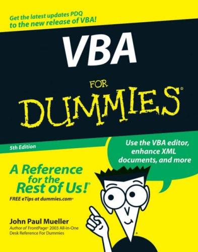 VBA For Dummies (5th Edition)