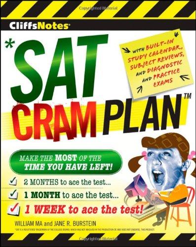 SAT Cram Plan (CliffsNotes)