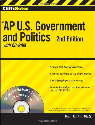 CliffsNotes AP U.S. Government and Politics (2nd Edition with CD-ROM)