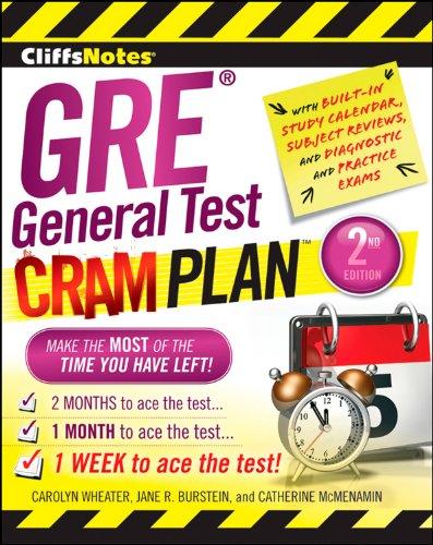 GRE General Test Cram Plan (CliffsNotes)