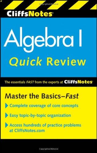 Algebra: I Quick Review (Cliffs Notes)