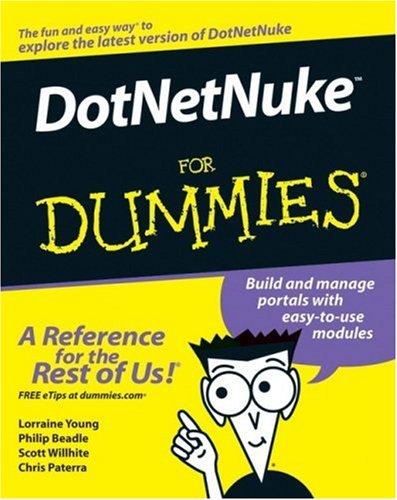 DotNetNuke For Dummies (For Dummies (Computer/Tech))