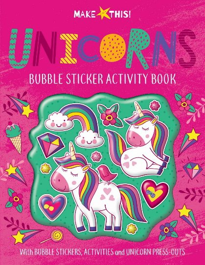 Unicorns Bubble Sticker Activity Book