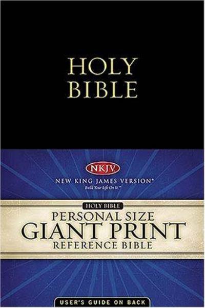 Holy Print: Giant Print Reference Edition (NKJV, 1653, Black Leatherflex, Velva-Gold Page Edges)