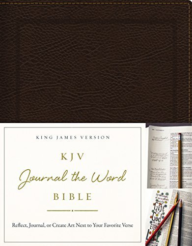 KJV Journal the Word Bible (4585 Brown Bonded Leather)