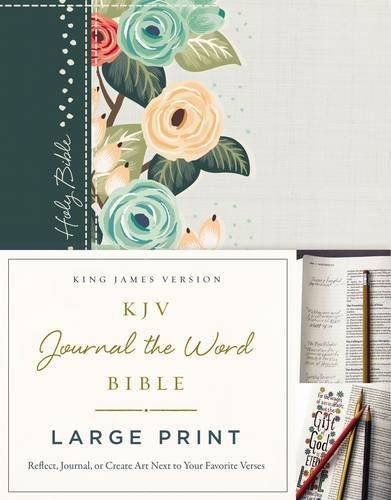 KJV Journal the Word Bible (Large Print, Green Floral Cloth Over Board)