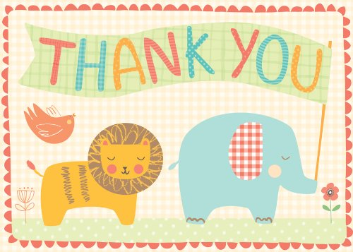 Playful Animals Parcel Thank You Notes