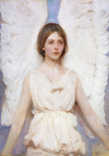 Abbott Thayer Angel Boxed Holiday Half Notecards